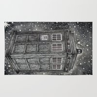 tardis Area & Throw Rugs featuring Tardis by Elizabeth A