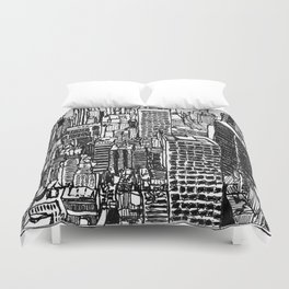 Back In The NYC Duvet Cover
