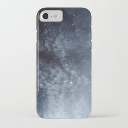 Blue veiled moon iPhone Case