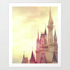 Disney Cinderella Castle Art Print