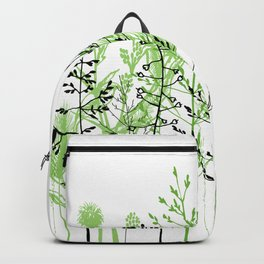 Wild flowers. Black and white Backpack