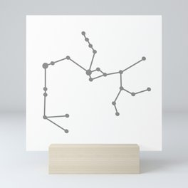 Sagittarius (Gray & White) Mini Art Print
