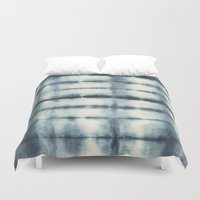 indigo Duvet Covers featuring Indigo by Nicole Vertina