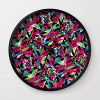 kaleidoscope Wall Clocks featuring KALEIDOSCOPE by Bianca Lopomo