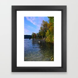 Autumn Arrives at the Lake Framed Art Print