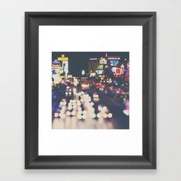 Las Vegas ... the neon town!  Framed Art Print