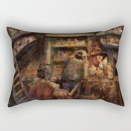 a potions shop and other magic artifacts Rectangular Pillow