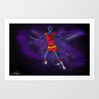 nightcrawler Art Prints featuring Nightcrawler by Ghost Filament