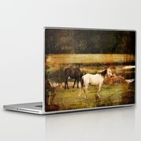 horses Laptop & iPad Skins featuring Horses by Christy Leigh