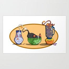 Cats In Stuff Art Print