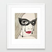 mask Framed Art Prints featuring Mask by Vivian Lau