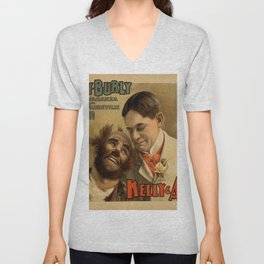 Vintage poster - Hurly Burly Extravaganza and Refined Vaudeville Unisex V-Neck