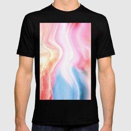 Abstract Pastel Waves T-shirt