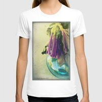 trumpet T-shirts featuring Trumpet Flowers by AlyZen Moonshadow