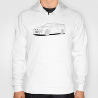 subaru Hoodies featuring Subaru Impreza 22B STI Type UK Line Illustration by Digital Car Art