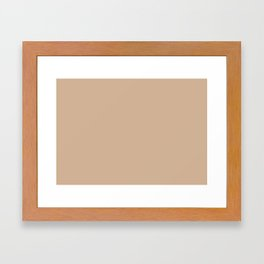 Hazelnut | Pantone Fashion Color Spring : Summer 2017 | Solid Color Framed Art Print
