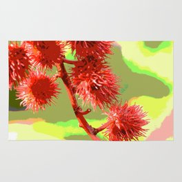 Spiked Plant Abstract Rug