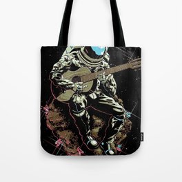 Space Guitar Player Tote Bag