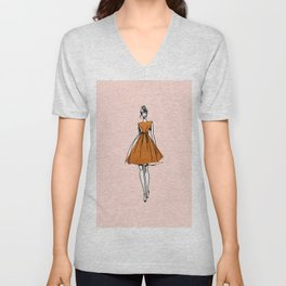Little Copper Dress Unisex V-Neck