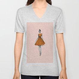 Little Copper Dress Unisex V-Neck