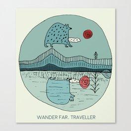 Wander far, traveller Canvas Print