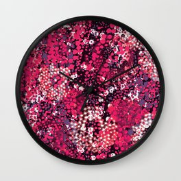 sparkling dots in red Wall Clock