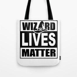Wizard Lives Matter Retro Halloween Sorcerer Light Tote Bag