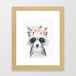 Forest Raccoon by Nature Magick Framed Art Print