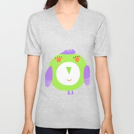 Light green Unisex V-Neck