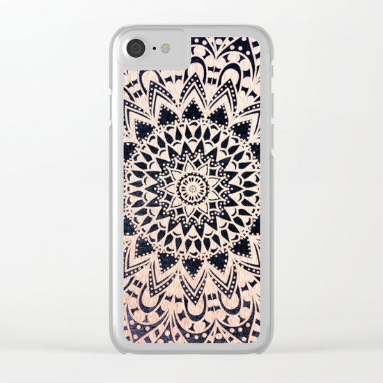 GOLD NIGHTS MANDALA IN PURPLE Clear iPhone Case