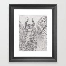 angel or demon Framed Art Print