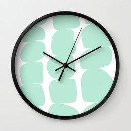 Aqua Stones Wall Clock