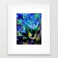 gengar Framed Art Prints featuring Gengar Blix by Angela Chevelle