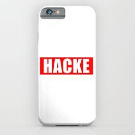 Hacke print | Passend zum Dicht design Hacke Dicht product iPhone Case