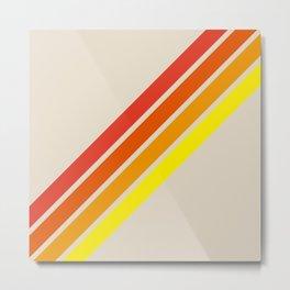 Classic Retro Stripes Alisanus Metal Print
