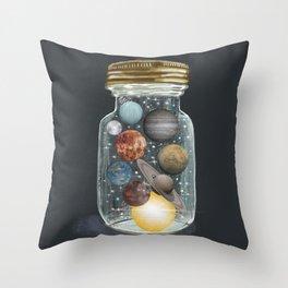 galaxy jar Throw Pillow
