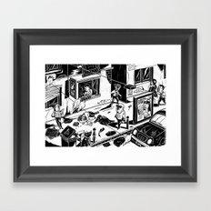 Pipien Molestus in the city Framed Art Print