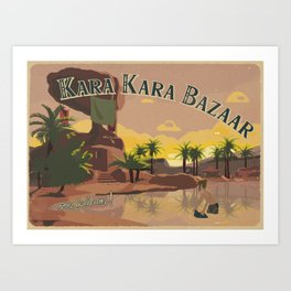 Kara Kara Bazaar Art Print