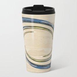 Flower Globe Bubble on Wood Travel Mug