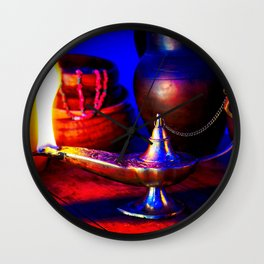 Magic Lamp of Aladdin. Call out the Genie Wall Clock