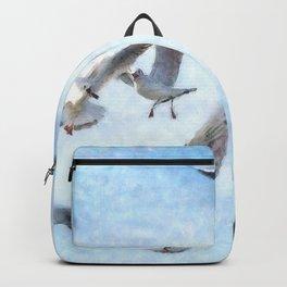 Gulls In Flight Watercolor Backpack