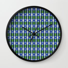 Links of Blue and Green Wall Clock