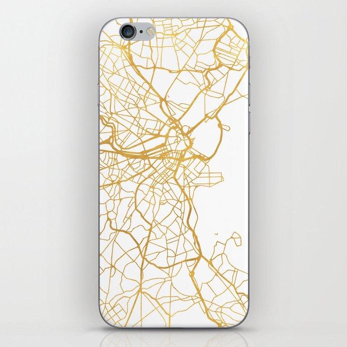 BOSTON MASSACHUSETTS CITY STREET MAP ART iPhone Skin