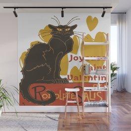 Joyeuse saint Valentin Le Chat Noir Parody Wall Mural