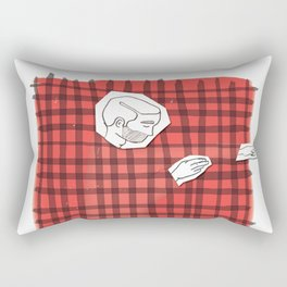 Sleeping in a comfy bed with flannel sheets   By: Melissa Medwyk Rectangular Pillow