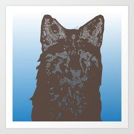 Fox Woodcut Art Print