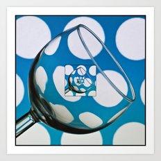 The Eternal Glass Light Blue Art Print