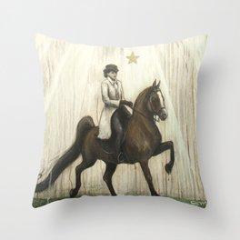 Star Horse // Equestrian Horseback Rider English Arabian Mare Stallion Equine Western Animal Horses Throw Pillow