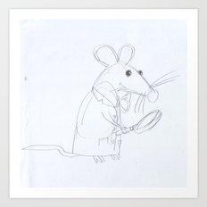 Mouse Scientist  Art Print