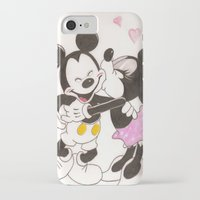 minnie iPhone & iPod Cases featuring Mickey & Minnie by karl oconnor